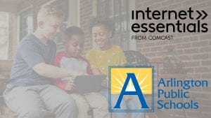 The Internet Essentials and Arlington Public Schools logos